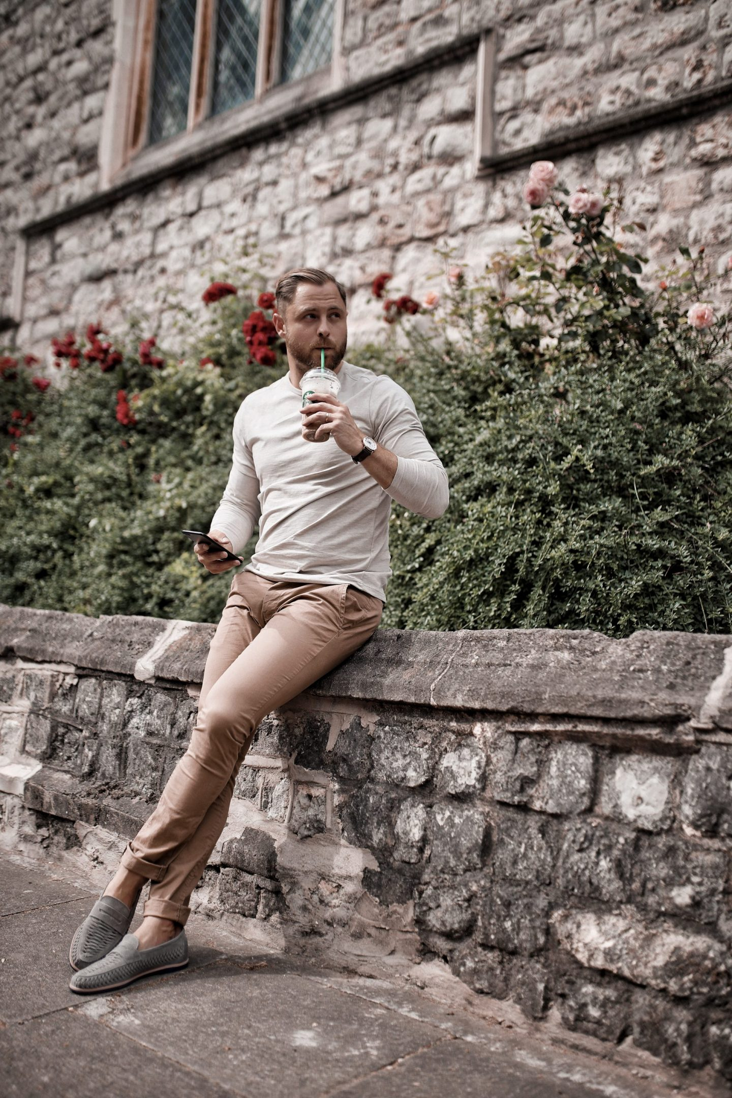 Jacamo Menswear New Spring Summer Oatmeal Tee Sand Chinos